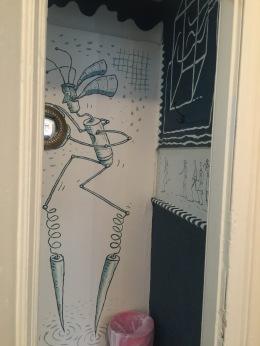 Entering the bathroom